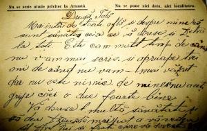Scrisoare de pe front