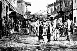 Het stadje Horezu